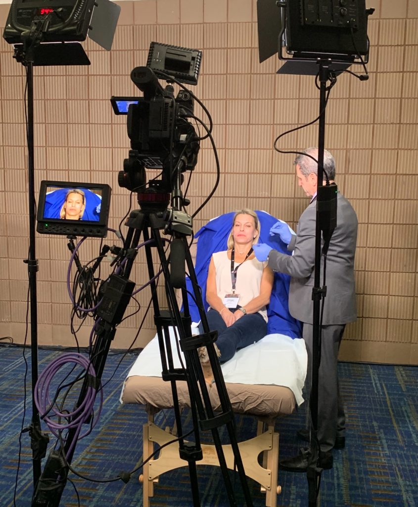 Dr. G working on camera